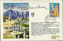 SAS Founder Retour en Tunisie cover dated 10.10.77 signed by David Stirling SAS founder Rare cover.
