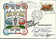 Bob Paisley and Liverpool legends signed1984