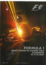Kimi Raikkonen signed 2013 Spanish Grand Prix