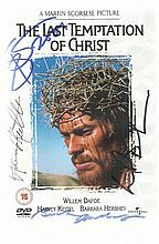 The Last Temptation of Christ, multi signed DVD by