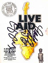 Live Aid Boxed DVD autographed by many including