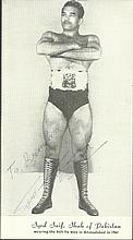Boxing, Wrestling collection of 5 vintage photos