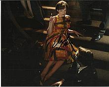 Elizabeth Moss signed colour 10x8 photo. Good condition