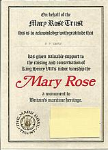 Mary Rose signed cover collection. Nice collection of covers comm. The Mary