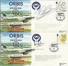 Signed cover collection an assortment of signed 15 FDCs and RAF flown comm