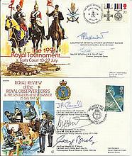 Joint Services AC special signed collection of about 60 covers from JS(AC)5