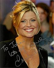 Emily Symons signed colour 10x8 photo. Dedicated to John. Good condition