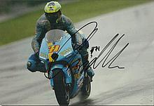 Motorcycling Star Colour 8x12 photograph autographed by Australian motorcyc