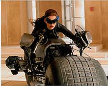 Anne Hathaway 10x8 colour photo of Anne from Dark Knight Rises, signed by h