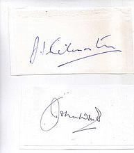 Two signatures of the Battle of Britain. Wing Commander J.I. Kilmartin OBE