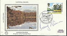 Barry Norman 1981 Benham small silk cover dedicated to the National Trust,