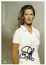 Steffi Graf signed Adidas promo colour photo. Good condition