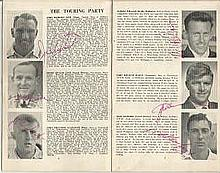 1958 cricketers from New Zealand tour brochure - signed inside over picture