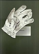 Lee Westwood signed golf glove. Good condition