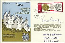David Stirling signed on RAF Escaping Society cover Escape from Colditz. Fo
