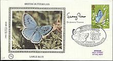 Dr Jeremy Thomas 1981 Benham small silk cover dedicated to British Butterfl