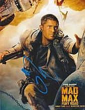 Tom Hardy Mad Max -Obtained At London Heathrow 2015 Signed 10x8 Photo. Good