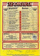 Brentford v Bolton programme March 86 signed by 17 including Mclintock and