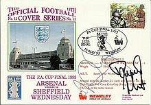 Ian Wright and David Hirst signed 1993 FA Cup final cover 15/5/93. Good con