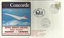 Concorde Munich-London First Flight dated 18th August 1983. Good Condition