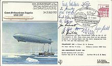 Eleven Zeppelin Crew Members Very rare cover signed by Hindenburg LZ129 & G