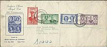 1947 Royal Visit to South Africa. Five First Day covers produced by Brian N