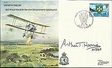 Arthur Harris signed Sopwith Tabloid Bomber cover B1, becoming scarce. Good