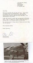 Wing Leader Group Captain Desmond James Scott DSO OBE DFC*. Signed letter f