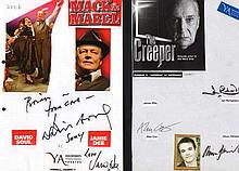 Multisigned Theatrical Casts collection 3 100+ autographs on 20 assorted A4