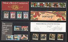 GB Presentation Stamp Packs, approx. 170 complete packs 1980 - 2003. Many h
