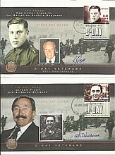 D-Day signed collection of two 60th Ann Antigua &