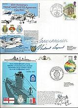 Navy VIP signed cover collection.  Includes 50+ covers.  Amongst covers inc