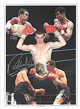 Richie Woodhall signed photo. 16 x 12 inches,  30 x 40 cms  high quality co