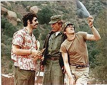 Elliott Gould signed colour 10x8 photo.  Dedicated to Tom.  Good condition