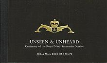 Mint condition book of Royal Navy Submarine stamps produced by the Royal Ma