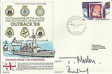 Commander Morton and Rear Admiral Woodhead signed cover