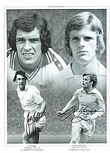Joe Jordan and Gordon McQueen signed photo. 16 x 12 inches,  30 x 40 cms  h