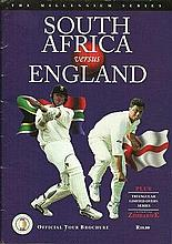 South Africa v England Tour Brochure The Millennium Series signed by 11 Zim