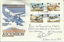 40th anniv of the Wideawake Airfield cover.  Signed by E Dixon-Child.  Good