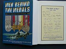 Men Behind The Medals Book Signed 20 DFC/DFM RAF WW2 Aircrew. Men Behind T
