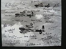 Lancaster Photo Signed 23 Bomber Command Veterans. 10 x 8 b/w photo signed
