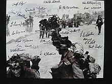 D Day Photo Signed 20 Normandy Veterans. 10 x 8 b/w photo signed by Gunner