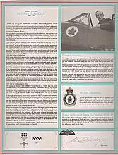 Group Captain Dennis G. Malloy DFC RCAF. Signature on Canadian Combat Pilo