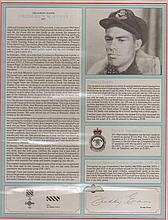 Squadron Leader Frederick W. Evans DFC RCAF. 1944 He few with 'Johnnie' J