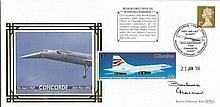 Concorde Pilot Barbara Harmer signed Concorde cover. Rare and collectable