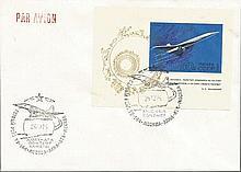 Russian Concorski cover. Rare and collectable 1975 Tupolev TU-144 World's