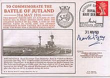 Admiral Sir Mark Pizey GBE CBE DSO signed cover. RN FDC commemorating the
