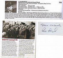 Wing Commander Roderick Learoyd VC RAF Signature of the first RAF recipien