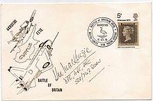 Wing Commander Kenneth Mackenzie DFC AFC Signature on 30th anniversary of