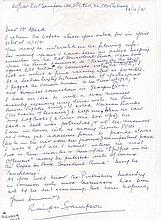 Wing Commander Ralph Sampson OBE DFC Signature on interesting letter of Wi